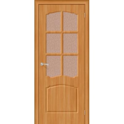 Межкомнатная дверь Винил Альфа П-18 (МиланОрех) Риф.