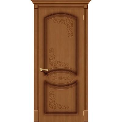 Межкомнатная шпонированная дверь Азалия Ф-11 (Орех)