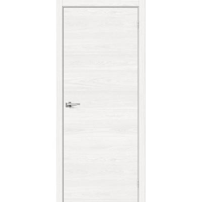 Межкомнатная дверь с экошпоном Браво-0 White Skyline