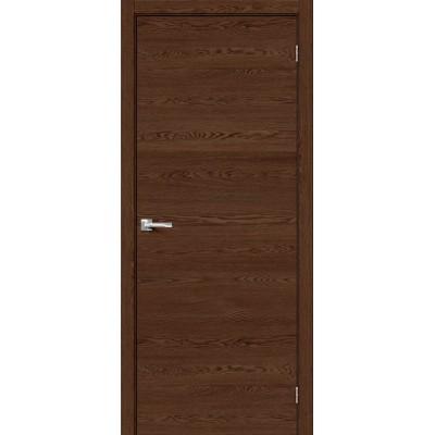 Межкомнатная дверь с экошпоном Браво-0 Brown Skyline