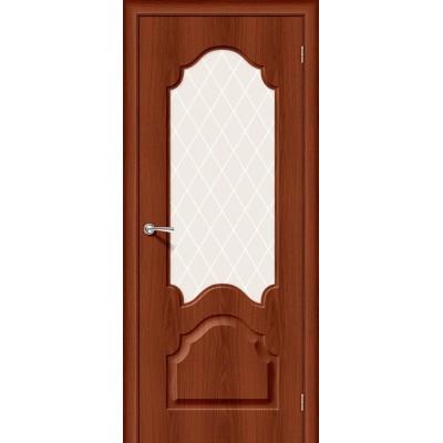 Межкомнатная дверь Винил Скинни-33 Italiano Vero   White Сrystal