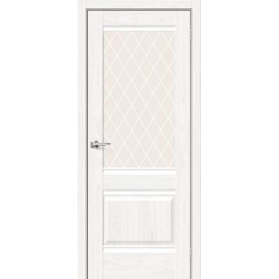 Межкомнатная дверь с экошпоном Прима-3 WhiteDreamline   White Сrystal