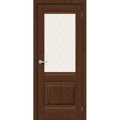 Межкомнатная дверь с экошпоном Прима-3 BrownDreamline   White Сrystal