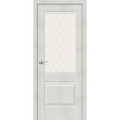 Межкомнатная дверь с экошпоном Прима-3 Bianco Veralinga   White Сrystal