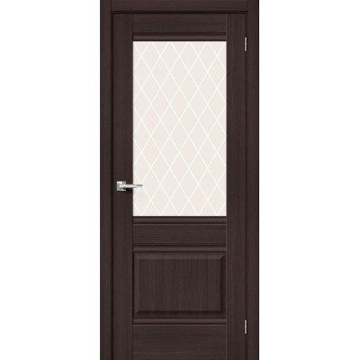 Межкомнатная дверь с экошпоном Прима-3 Wenge Veralinga   White Сrystal
