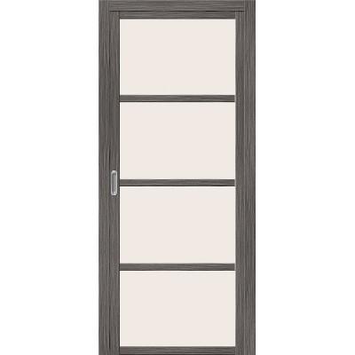 Межкомнатная складная дверь Эко Шпон Твигги V4 Grey Veralinga   Magic Fog