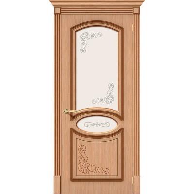 Межкомнатная шпонированная дверь Азалия Ф-01 (Дуб) Худ.