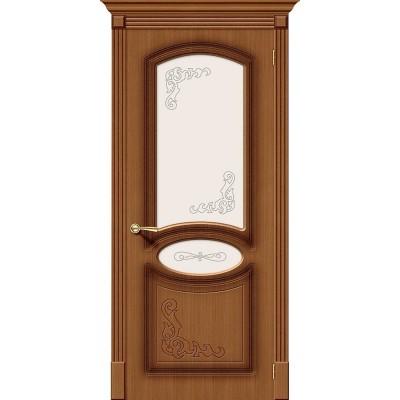Межкомнатная шпонированная дверь Азалия Ф-11 (Орех) Худ.
